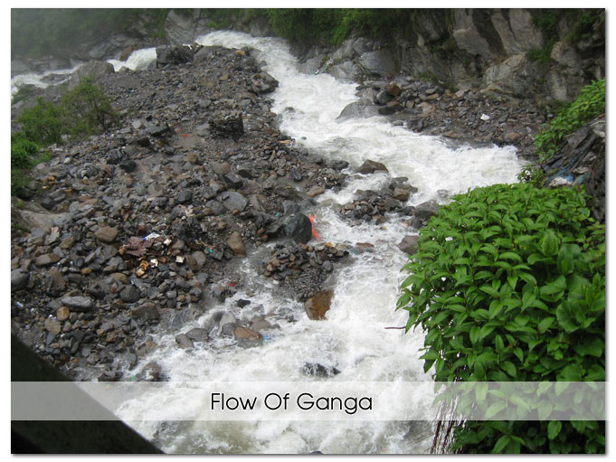 Flow of Ganga River