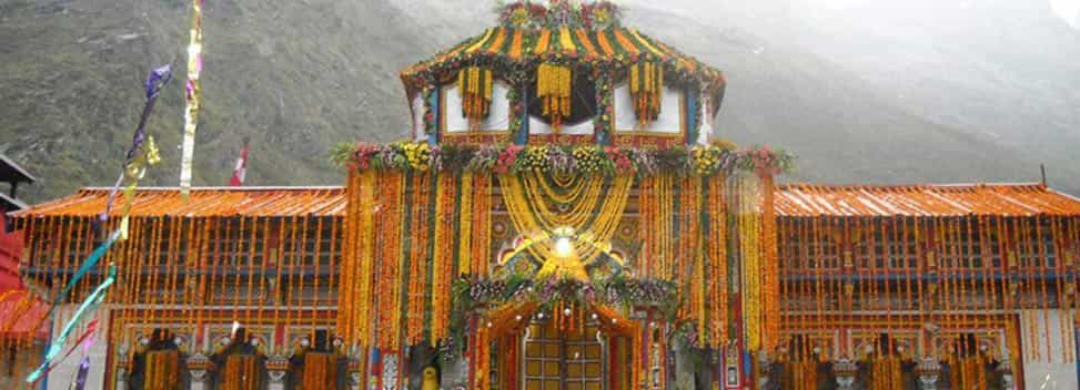 Badrinath Temple on Kapat Opening Decoration