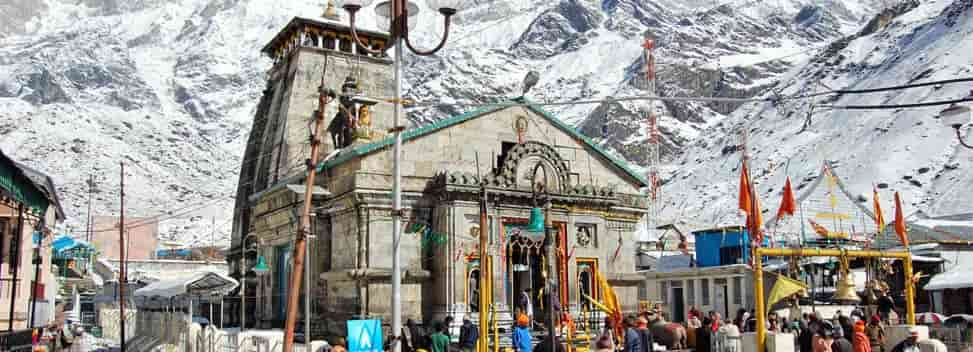 Kedarnath Temple in Summer