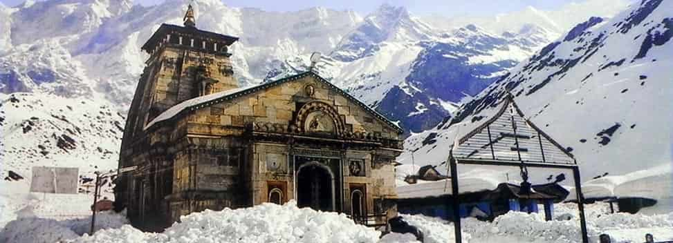Kedarnath Temple in Winters